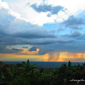 rainstorm sunset