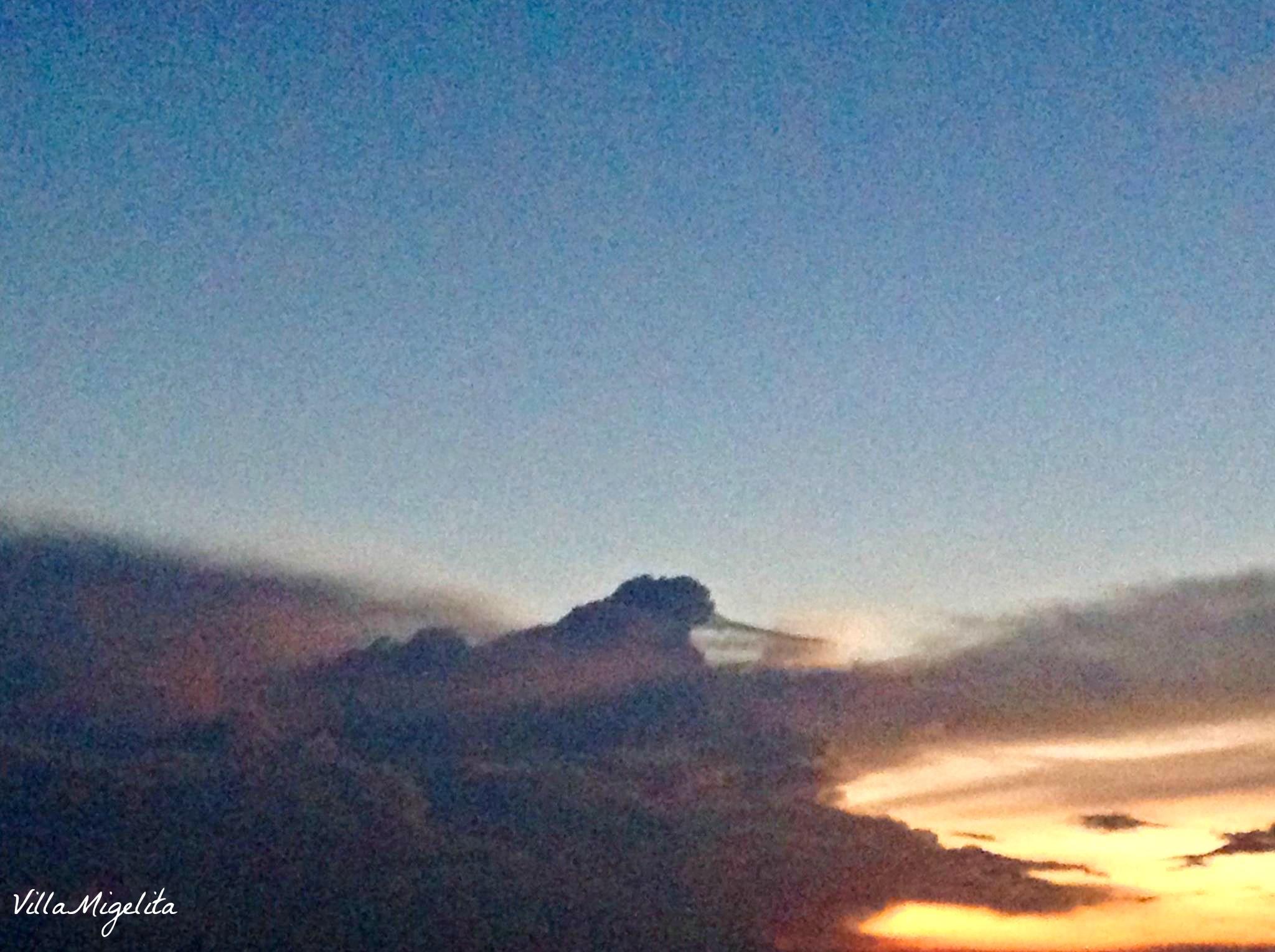 hummingbird in the sky cloud