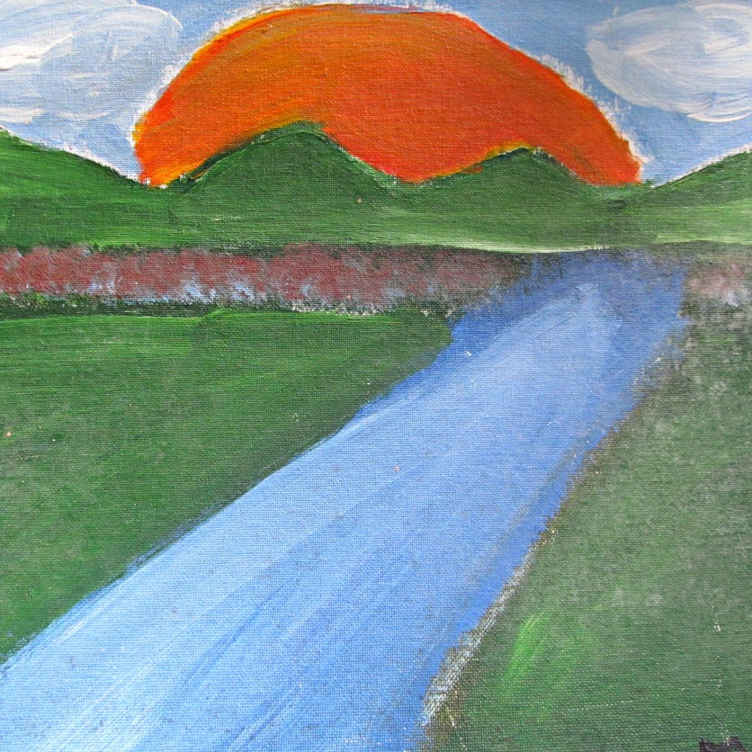 A painting Misha did in Elementary School of the Smoky Mountains