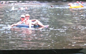 My son started tubing early in Gatlinburg